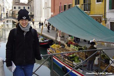 Me standing on a bridge in Venice