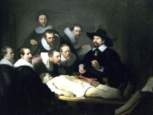 A Lição de Anatomia do Dr. Tulp – Rembrandt. #PraCegoVer