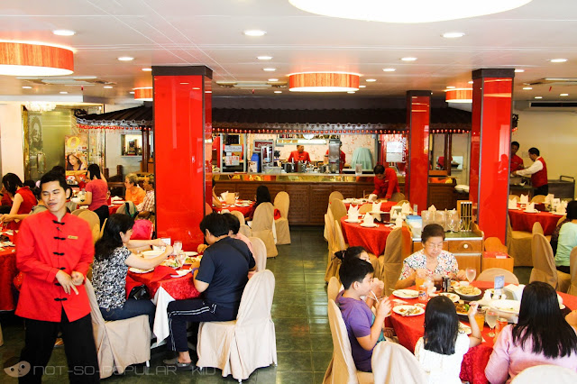 The interior of Shang-ri La Chinese Restaurant in Quezon City