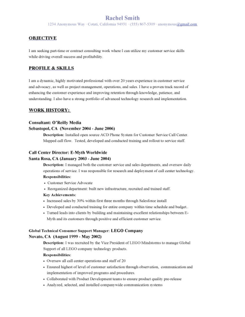 sample objective in resume job resume sample examples job resume – Resume Objectives Sample