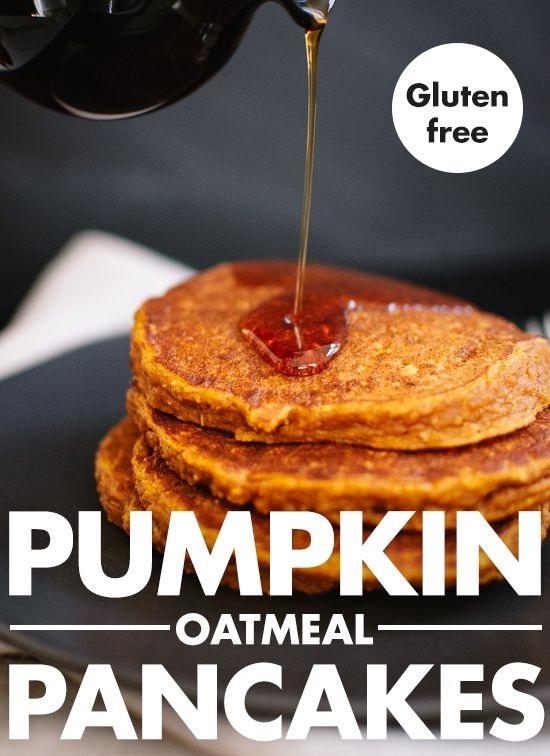 Gluten-Free Pumpkin Oat Pancakes