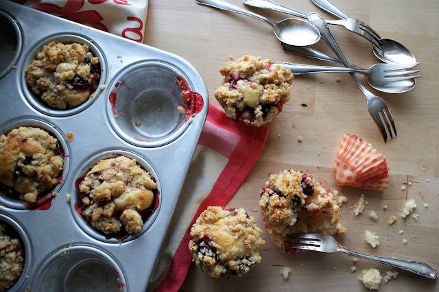 Mirabellen Muffins mit Streusel