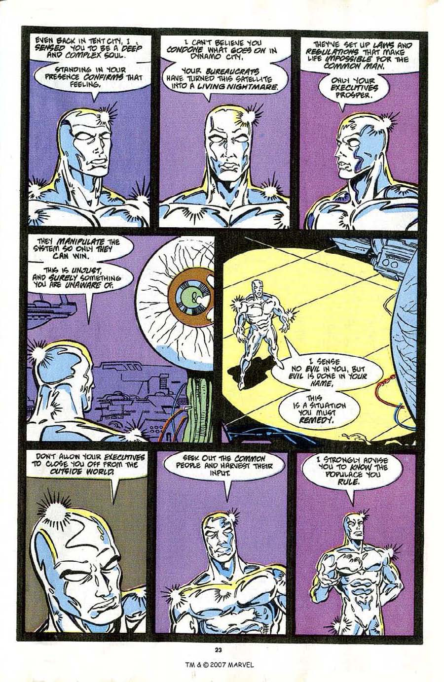 Read online Silver Surfer (1987) comic -  Issue #42 - 25