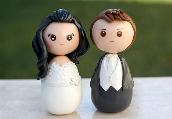 personalized wedding cake toppers figurines unxia personalized custom wedding cake topper kokeshi 6488