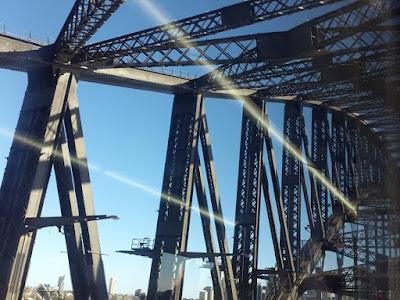 Freeway to Kirribilli from Sydney CBD Australia