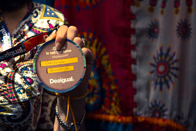 badge blogger party Desigual