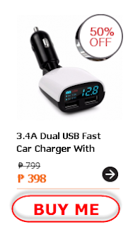 17W 3.4A Dual USB Port Vehicle Mounted Phone Charger Adapter