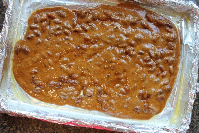 Food Lust People Love: Who doesn't like to get a small box of homemade peanut brittle for Christmas?! This easy recipe for Gram's Favorite Peanut Brittle makes one pound for giving away or eating by yourself. It can be easily doubled.
