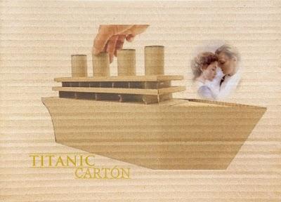 Juguetes de cartón. Cómo hacer el barco Titanic