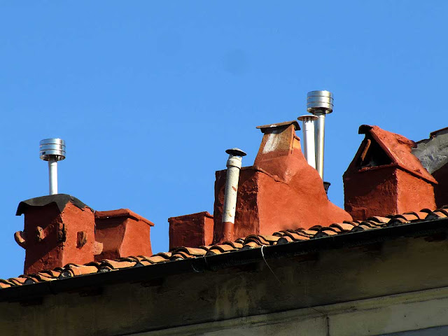 Chimneys on a roof, Livorno
