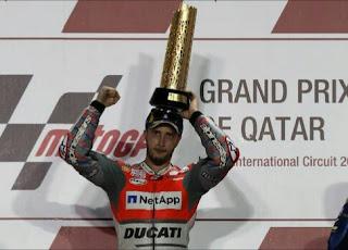 Andrea Dovizioso juara motogp di qarar