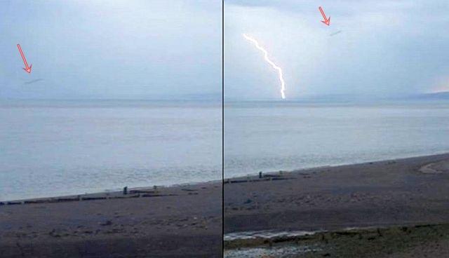 Kaksi videosta otettua kuvakaappausta. Kuvat: MUFON