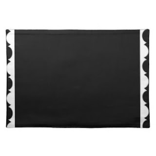 Black and white place mat