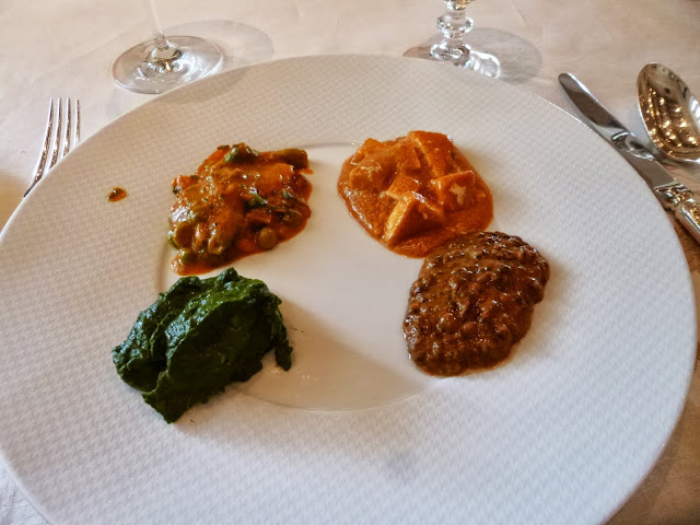 Lunch at Falaknuma Palace: vegetarian curries