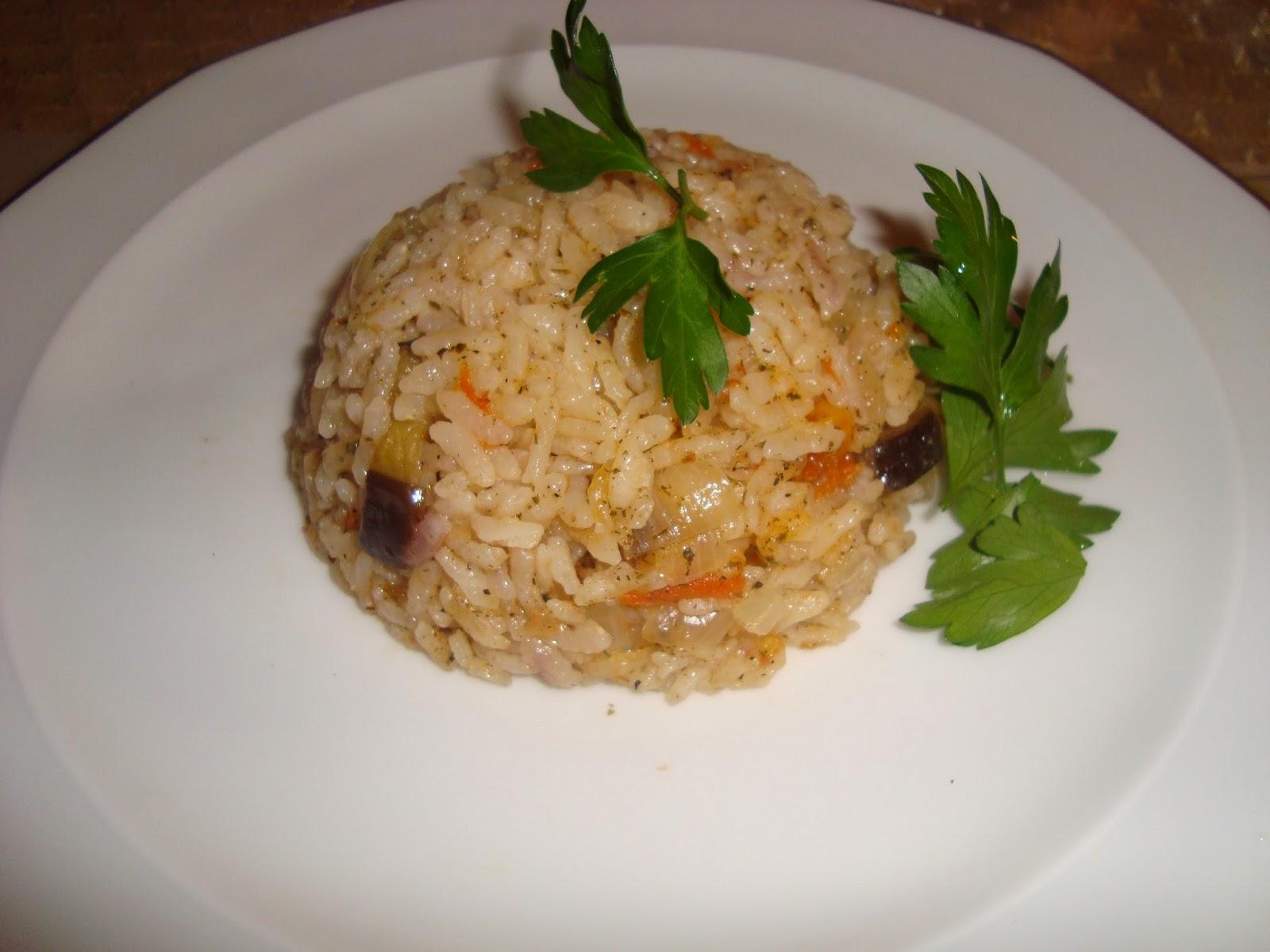 Maydanozlu Domatesli Patlıcanlı Pilav Tarifi