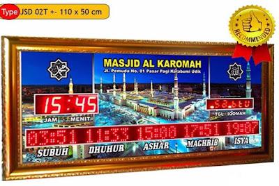 Jual Jam Jadwal Sholat Digital Masjid Di Solo