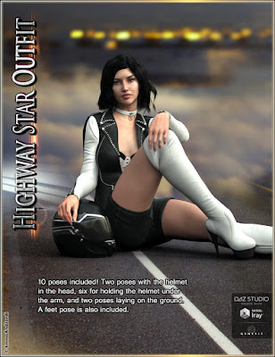 Highway Star Outfit and Accessories for Genesis 3 Female(s)
