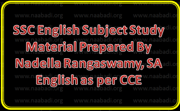 SSC English Subject Study Material Prepared By Nadella Rangaswamy, SA English as per CCE 161 Pages
