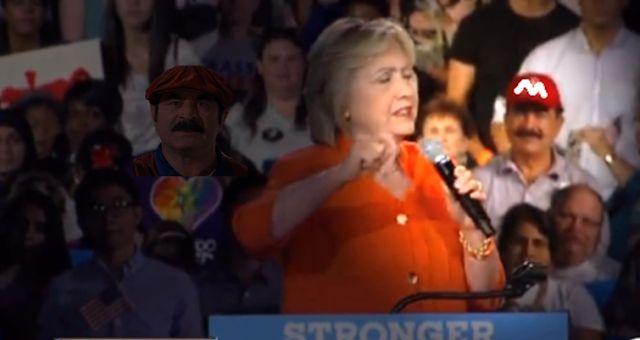 Hillary Clinton rally Super Mario Mir Seddique Mateen Nintendo Orlando shooting father