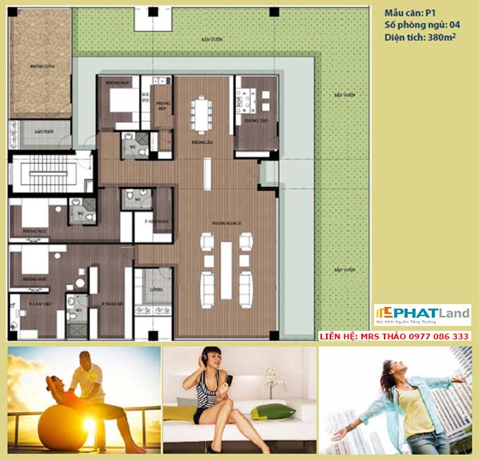 mẫu căn hộ 4 phòng ngủ tại chung cư artemis, ban chung cu artemis