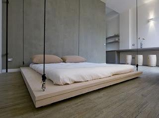 diseño cama suspendida