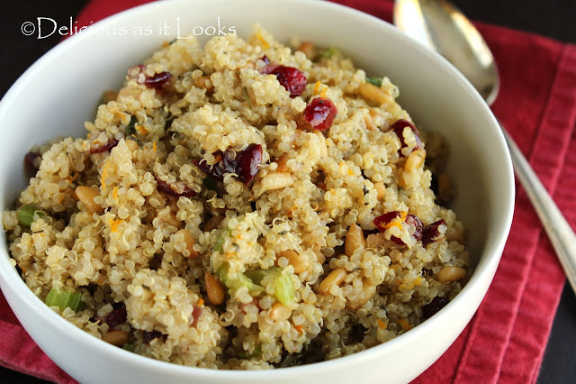 Cranberry-Orange Quinoa Stuffing  |  Delicious as it Looks