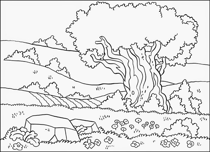 free scenery coloring pages - photo#13