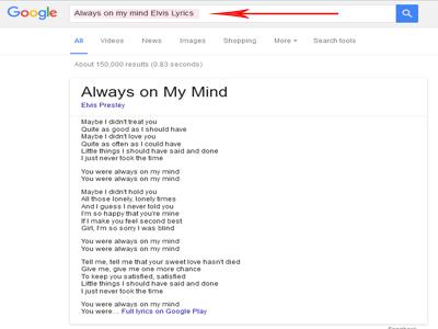 Mencari Lirik Lagu Dengan Mesin Pencari Google