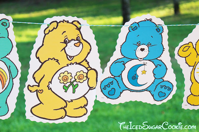 Care Bears Birthday Party Banner DIY Idea- Funshine Bear Grumpy Bear Bedtime Bear Friend Bear Share Wish Bear Care A Lot