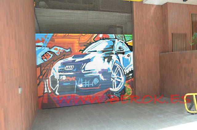 graffiti coche Audi arte urbano