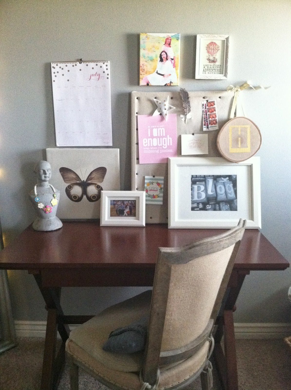 pink desk chair target rocking gliders for nursery a vignette in pink: my mini home office~ - wendy hyde lifestyle