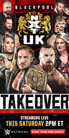 Poster Of WWE NXT UK TakeOver Blackpool 13th January 2019 HDTV 480P 300MB