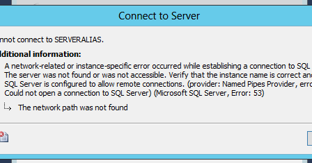 In Simple Way: SQL Server Management Studio unable to connect using
