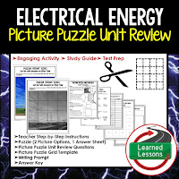PHYSICAL SCIENCE Test Prep, PHYSICAL SCIENCE Test Review, PHYSICAL SCIENCE Study Guide, Electrical Energy