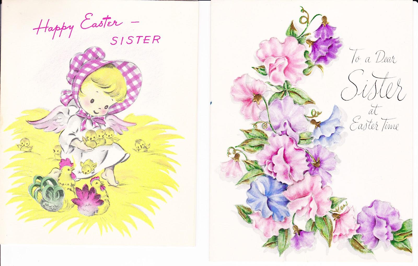 Madeline S Memories Vintage Christmas Cards: Madeline's Memories: Vintage Easter Greeting Cards