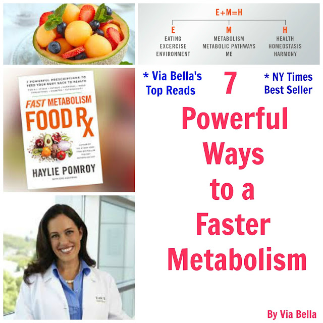 7 powerful ways to a faster metabolism, fast metabolism food rx,hailey pomroy, nutrition, harmony books, book review, health, homeopathic, healthy living, blogging for books