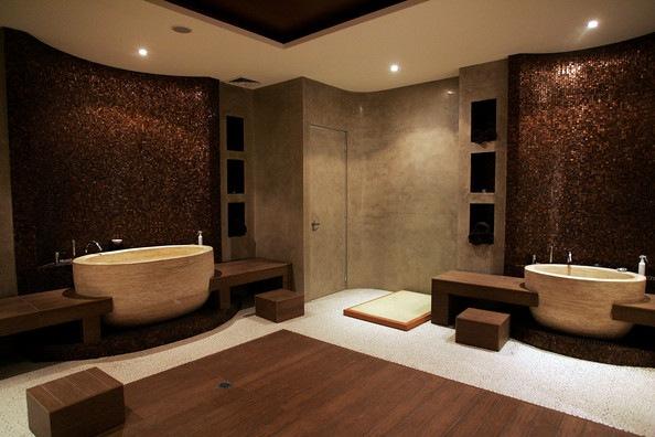 Boiserie c arredare un bagno come una spa - Arredo bagno stile spa ...