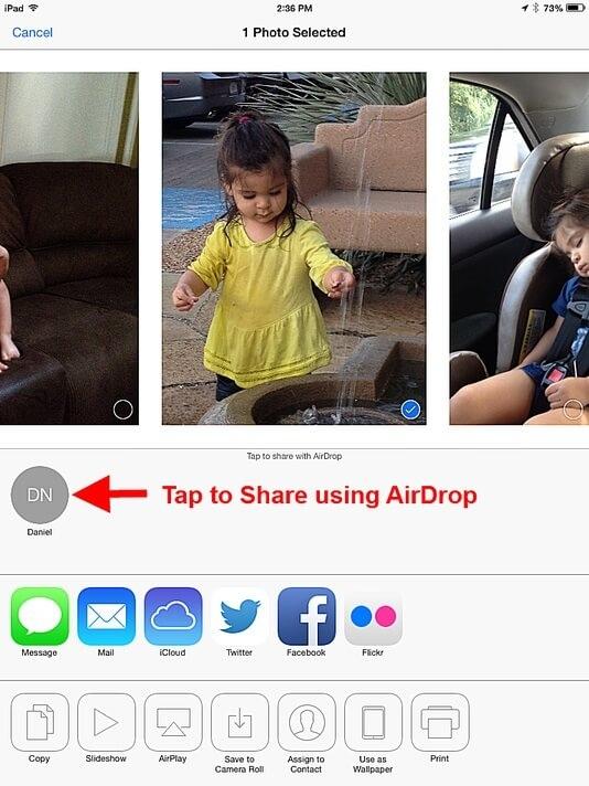 Cara Menggunakan AirDrop Di iPad