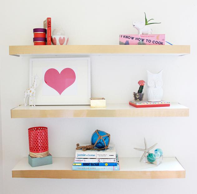 Floating Bookshelves Ikea: A Bubbly Life: DIY Ikea Hack Floating Shelves Color Block