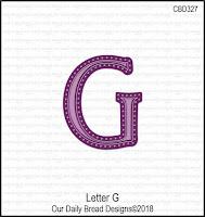 ODBD Custom Letter G Die