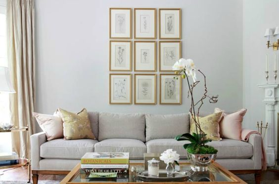 It Works Really Well In This Living Room, With A Grey Couch, Pale Grey  Walls, And All Gold Accessories. Morgan Harrison Home. Part 94