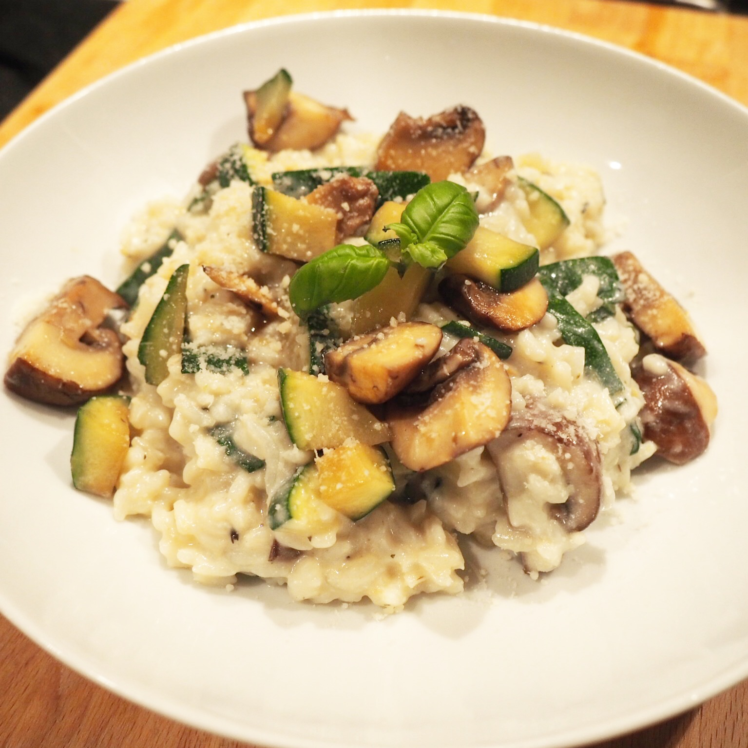 healthy living in heels smaakvolle champignon courgette risotto. Black Bedroom Furniture Sets. Home Design Ideas