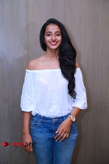 Actress Apoorva Srinivasan Pictures in Jeans at Tollywood Thunder Franchise Launch  0008.JPG