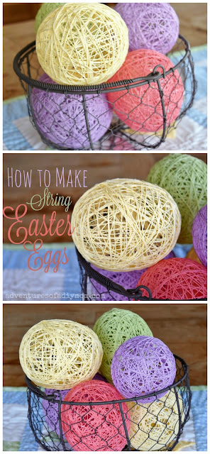 how to make sugar string easter eggs