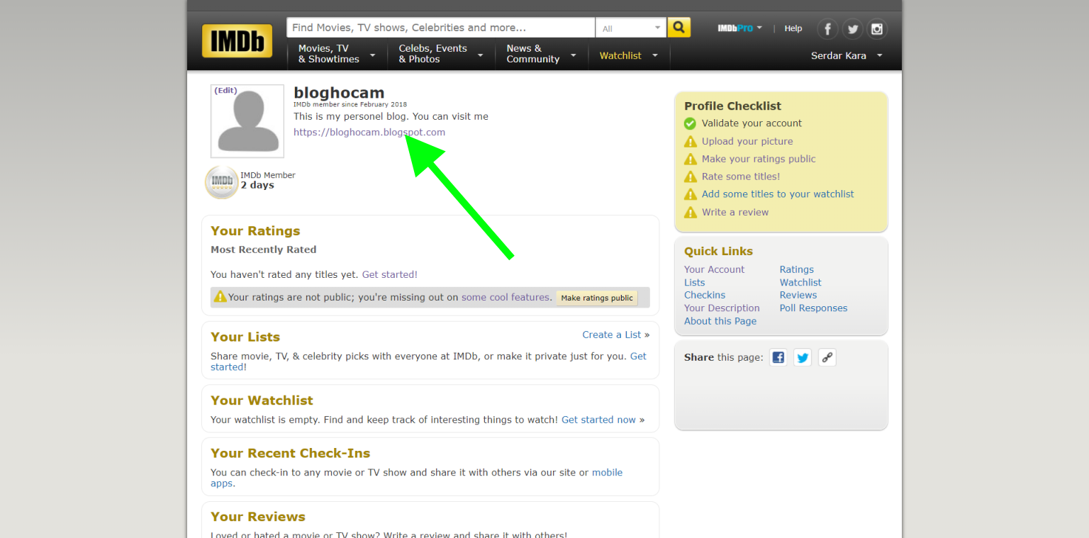 imdb backlink