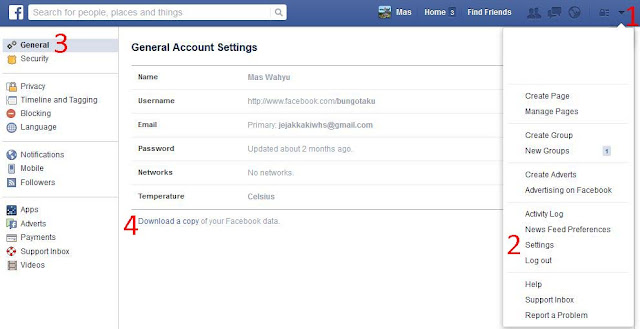 Backup Data Facebook
