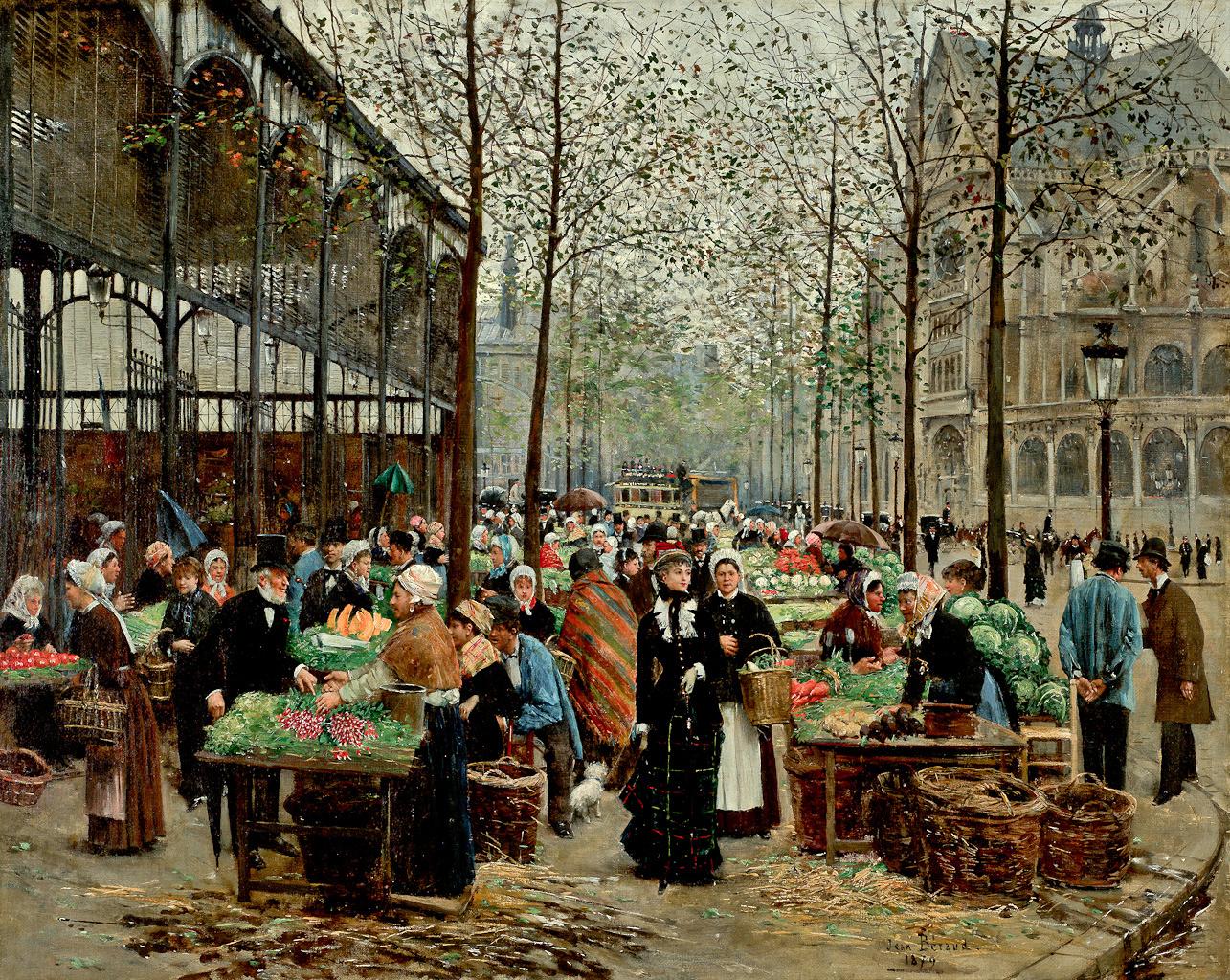 Peinture Française du 19ème Siècle: Les Halles (1879)