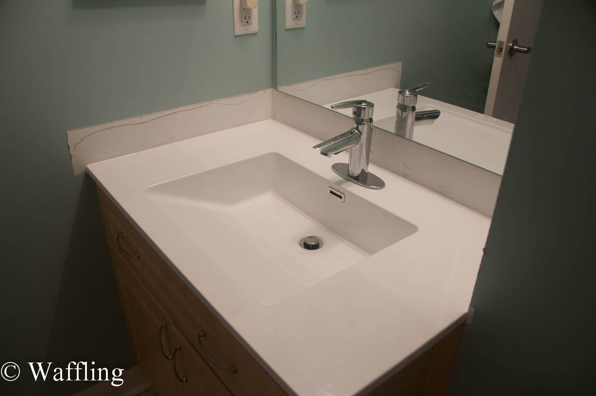 How To Install A Bathroom Countertop Waffling Installing A New Bathroom Countertop