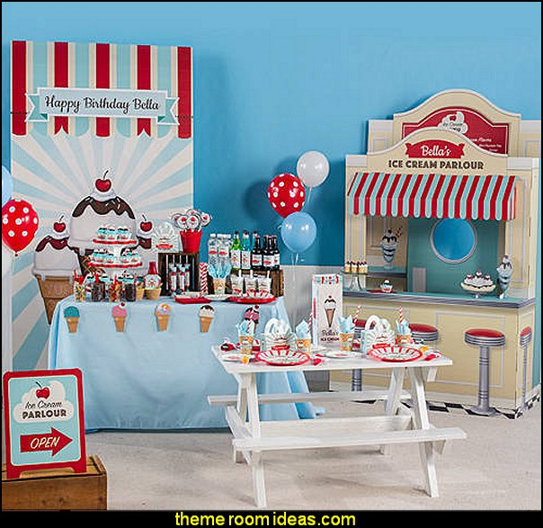 Ice Cream Party Supplies Ice Cream Party decorations Ice Cream Party decorating props