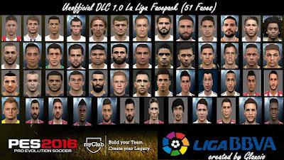 PES 2016 Unofficial DLC 1.0 La Liga Facepack by Glaucio